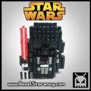 DIY 3D Perler Darth Vader