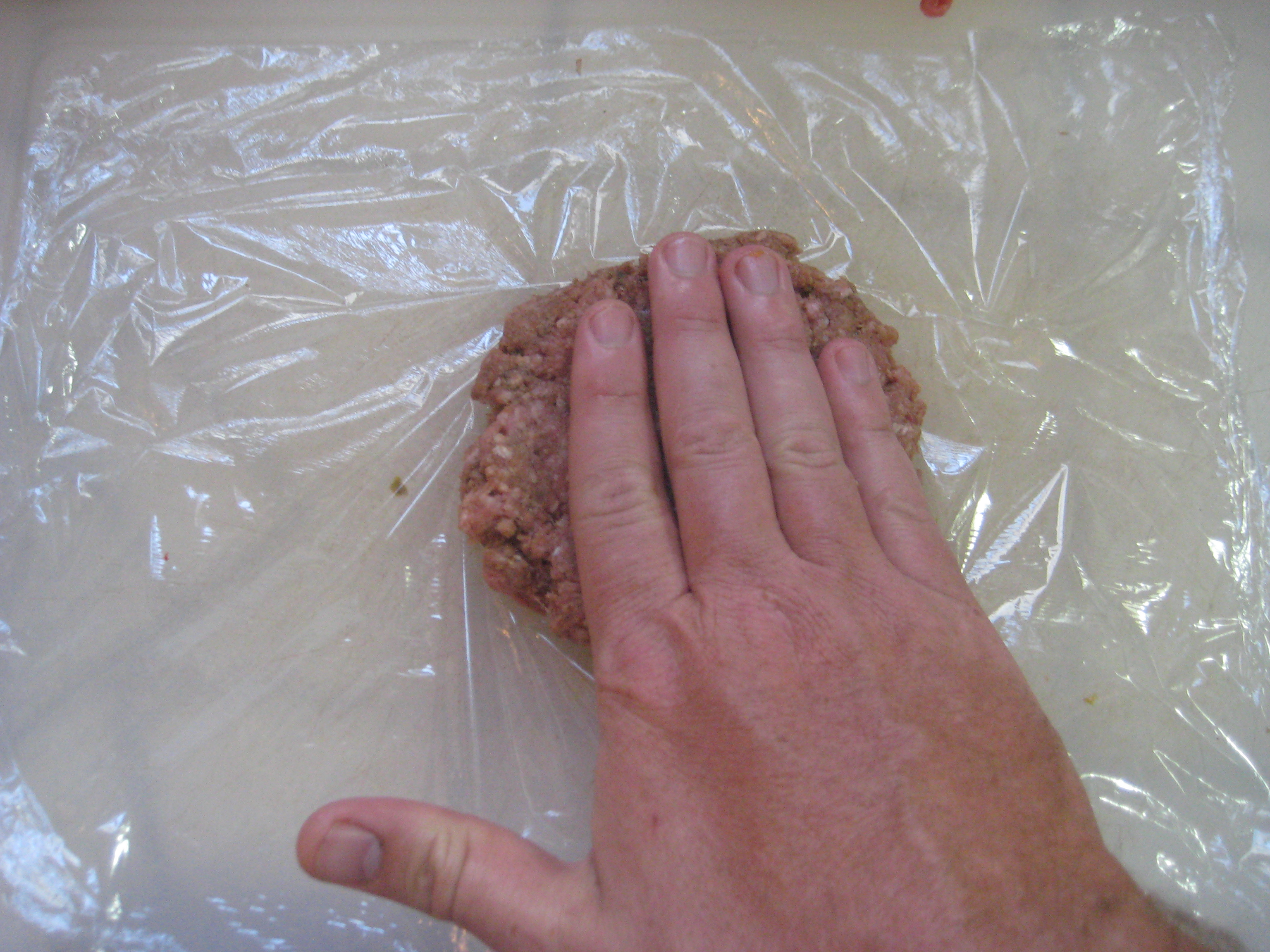 Picture of Preping the Burger Dog