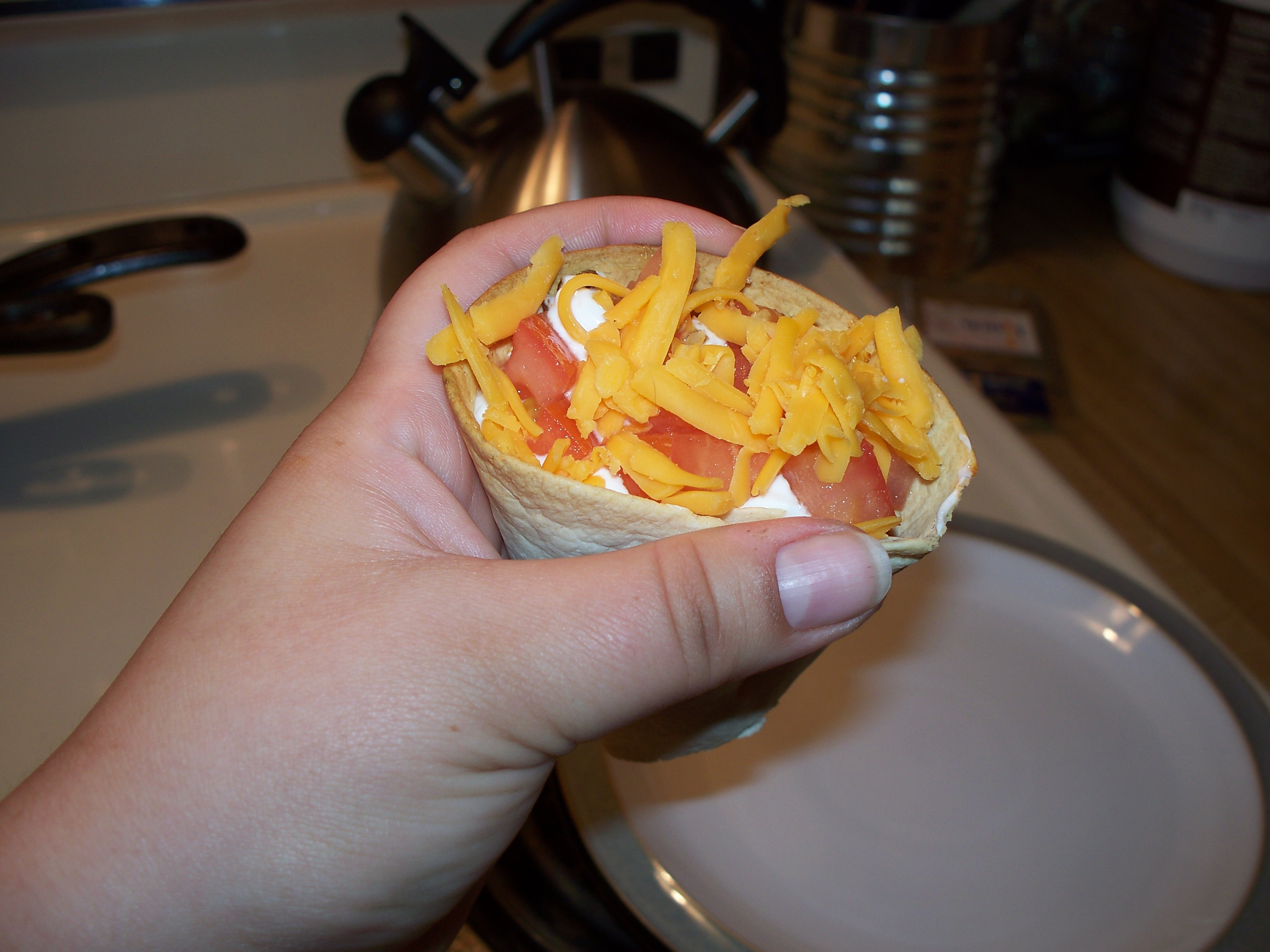 Picture of Finger Taco Salads!