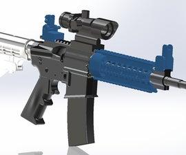 AR-15 quad rail and back up sights