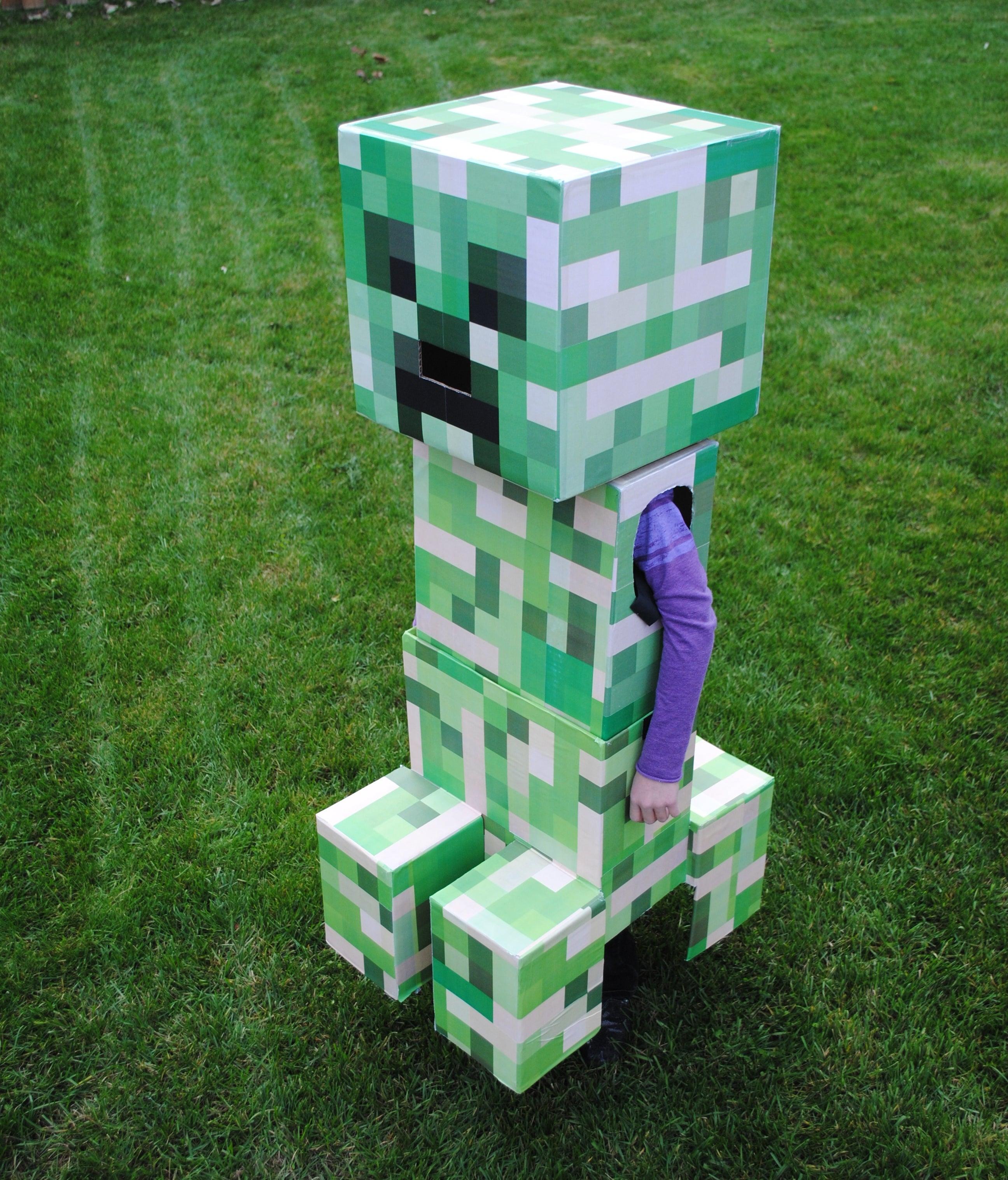Creeper Minecraft Paper Craft Model | Free Printable Papercraft ... | 3034x2592