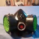 Led Uv costume Gas Mask