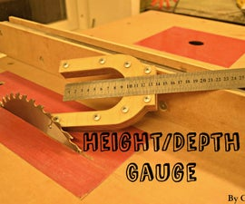 Simple Height/depth Gauge