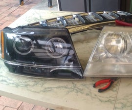 How to connect Halo and LED park lights on VIPmotoZ, Spyder or similar aftermarket headlights