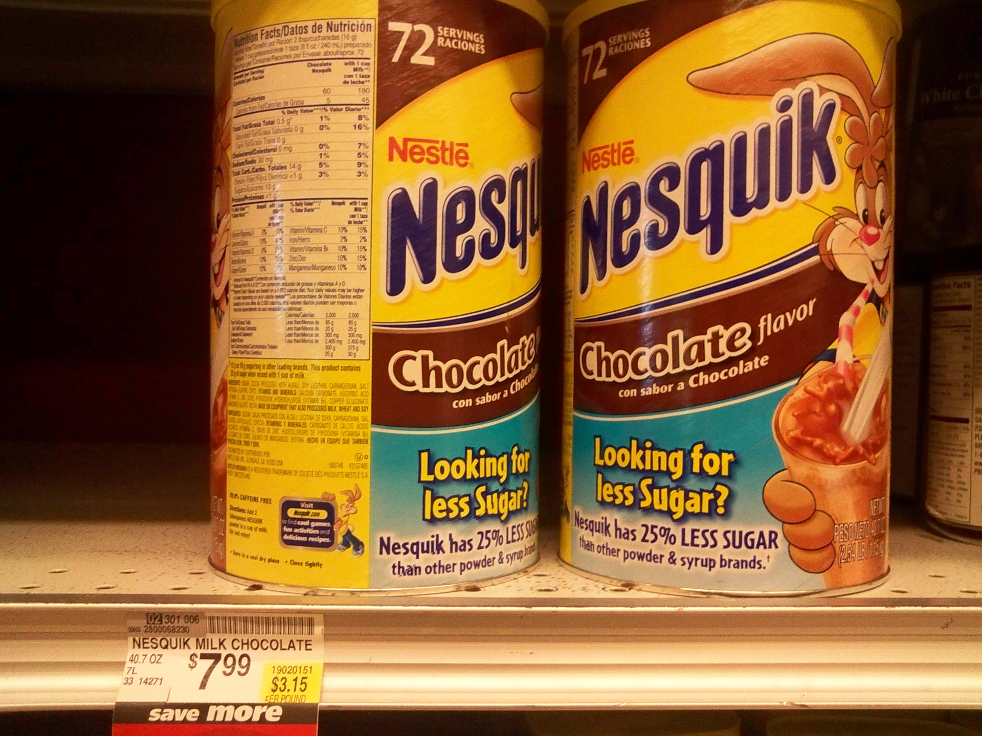 Picture of Nesquik With Water: $1.60 / Gal