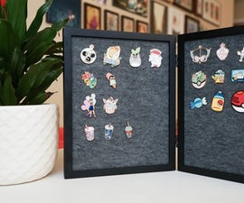 Enamel Pin Frame Display