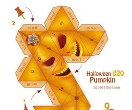 Halloween Pumpkin d20 Dice