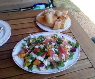 Campsite Serrano Ham and Peach Salad
