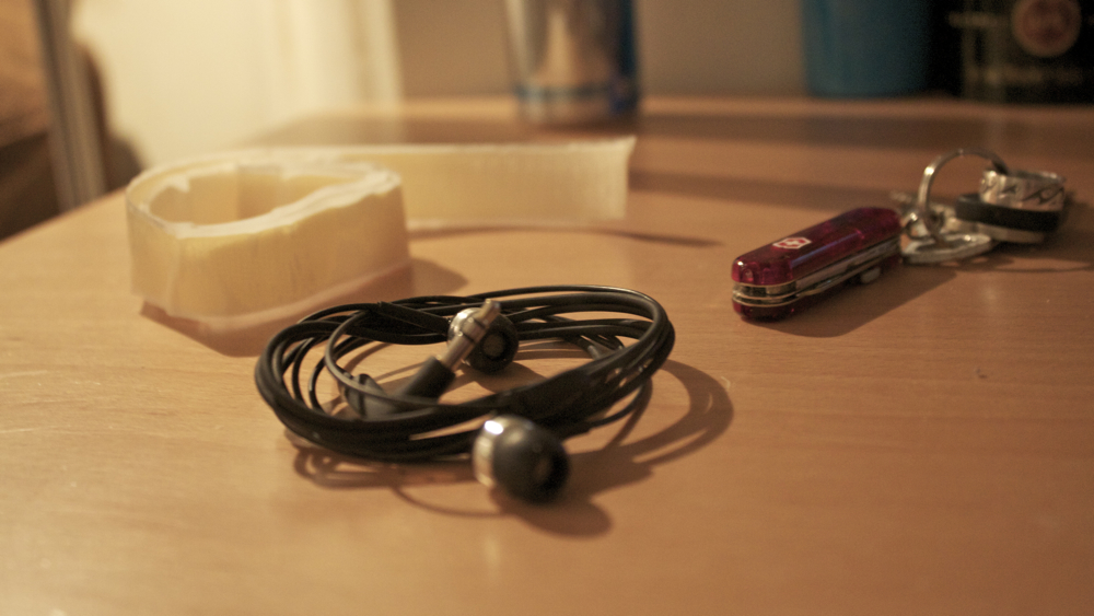 Picture of The Materials, the Tools and the Cable to Work On.