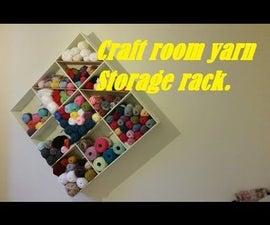 Yarn Shelves for Craft Room Storage.