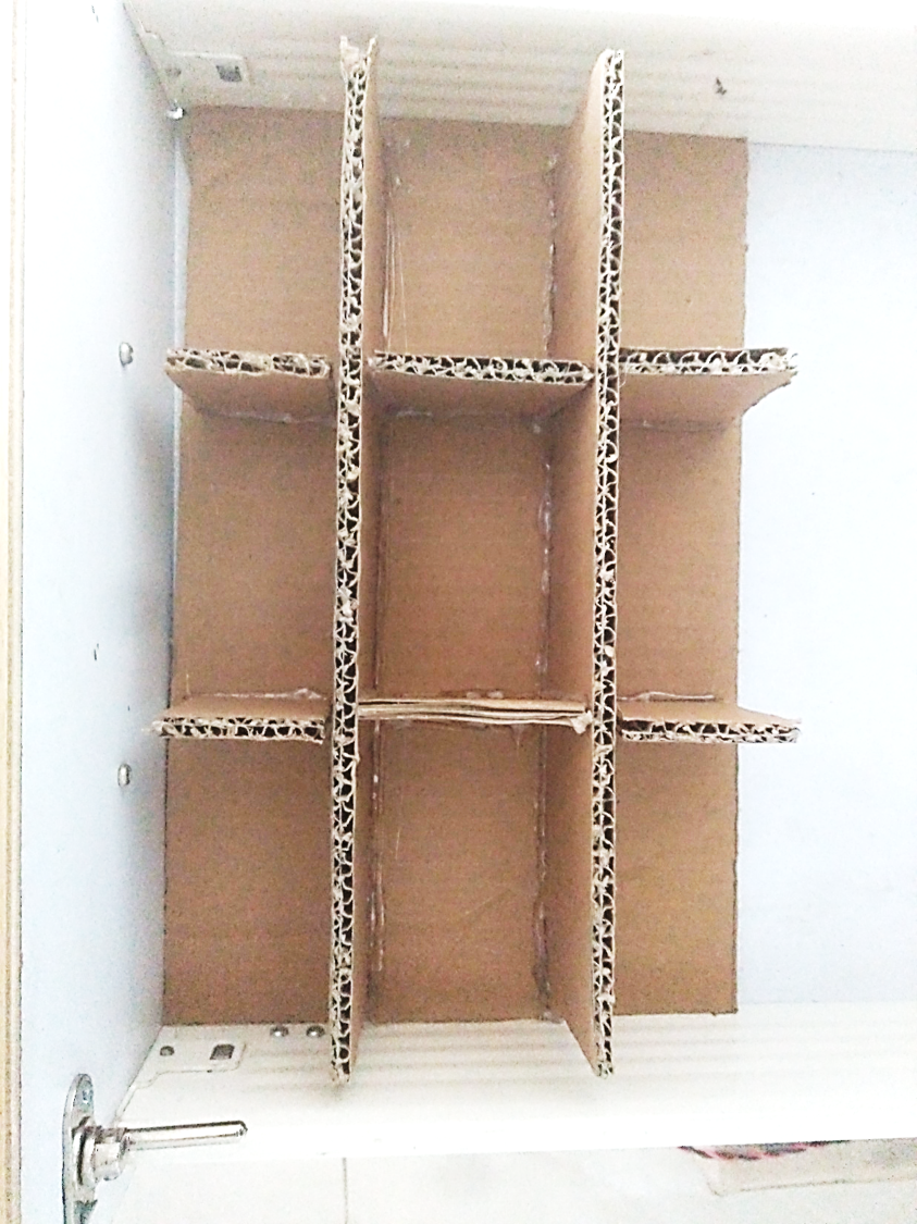 Picture of DIY Cardboard Drawer Partition
