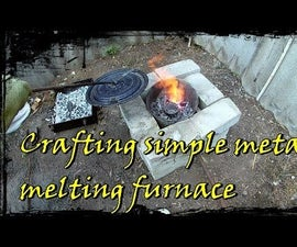 Metal Melting Furnace From a Scrap - Building Guide