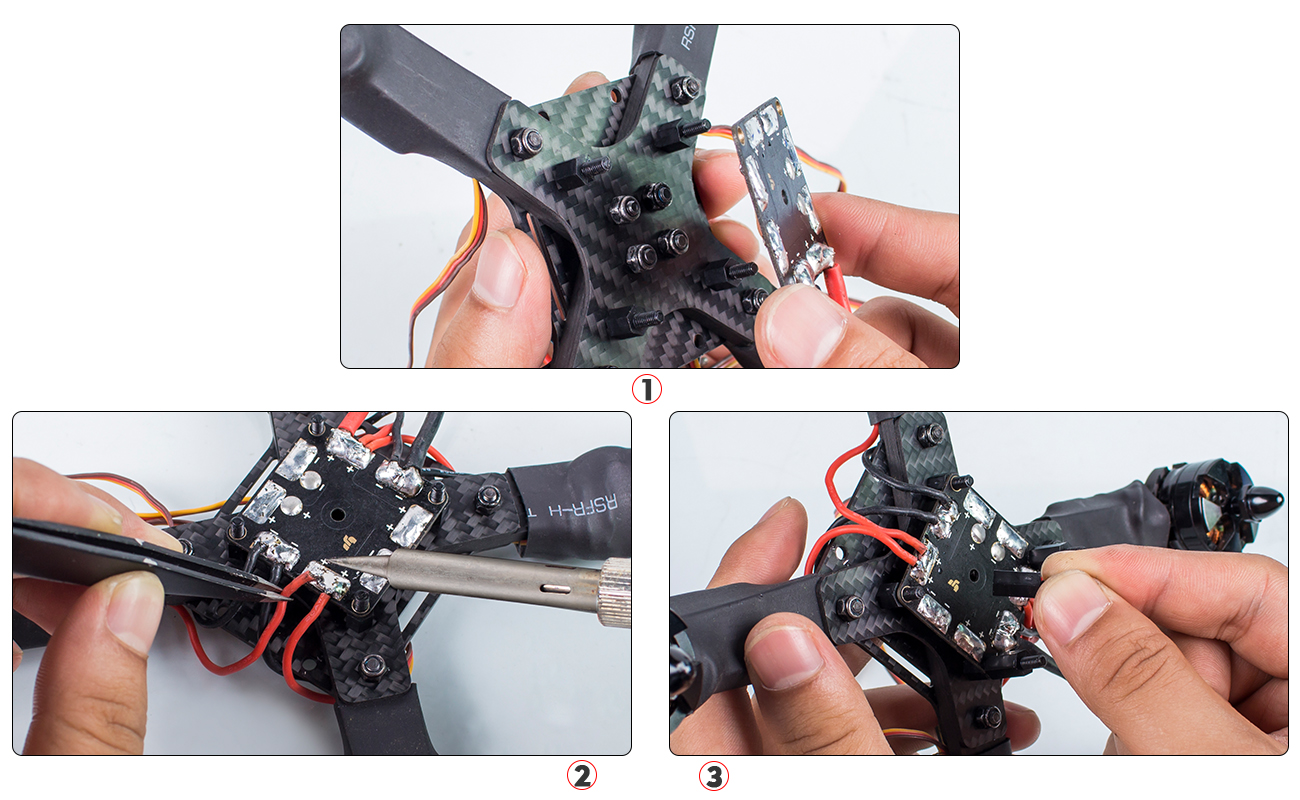 Picture of Wiring of ESCs and Power Distribution Board