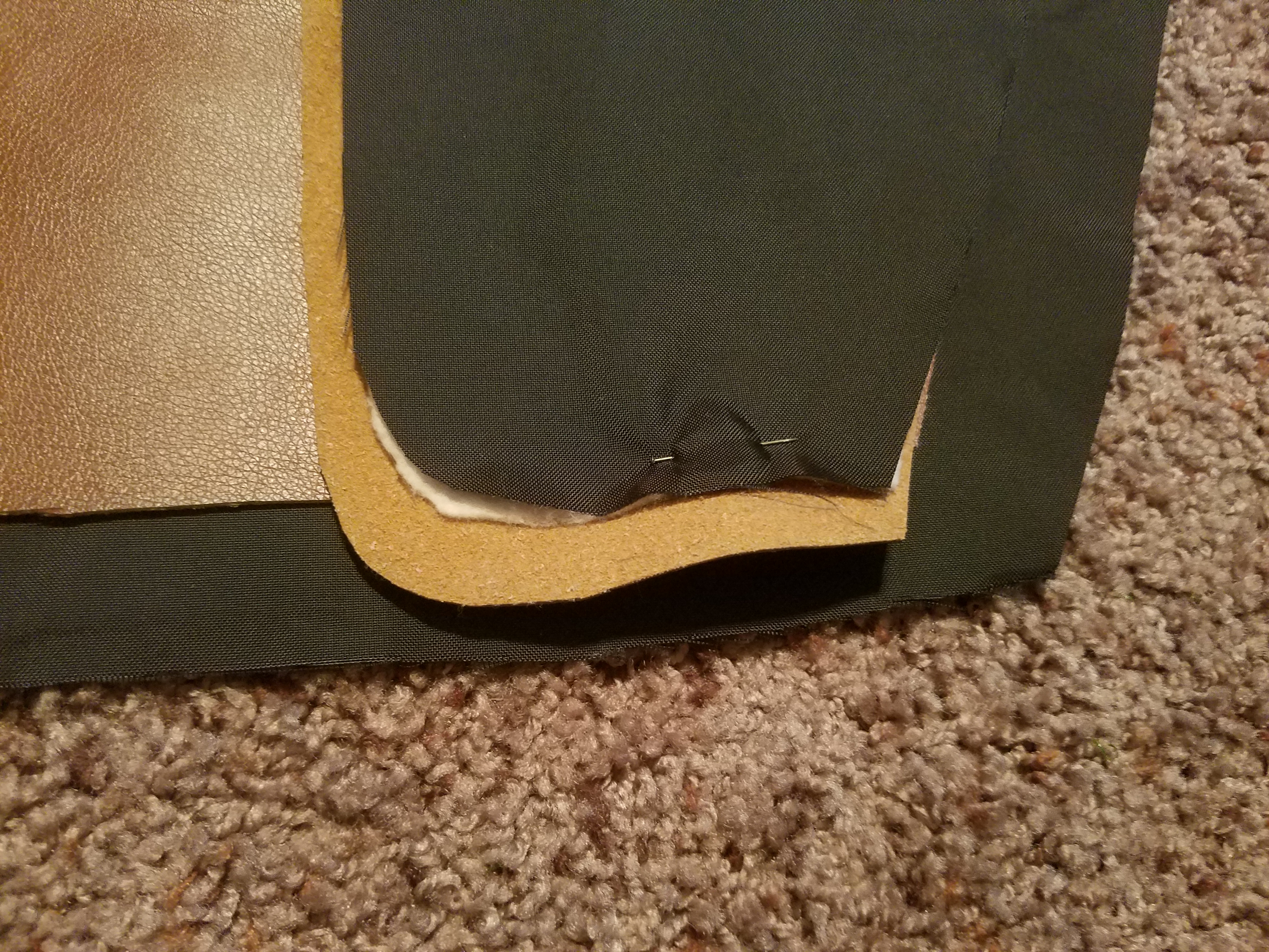 Picture of Sewing the Flap to Outward Face