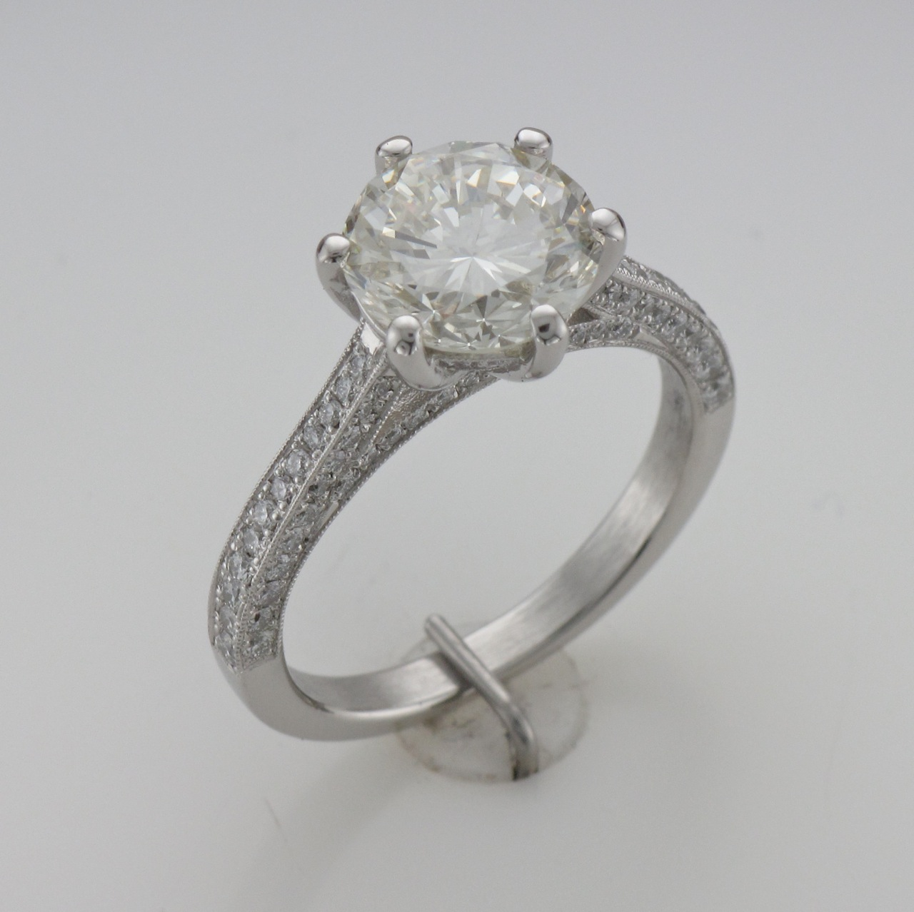 Picture of Custom Platinum Engagement Ring- From CAD to Finish