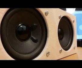 6W+6W Loud Portable Bluetooth Speaker