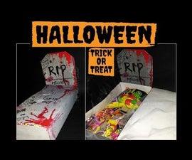 Halloween Decor- DIY Trick or Treat GRAVE (under a Dollar)