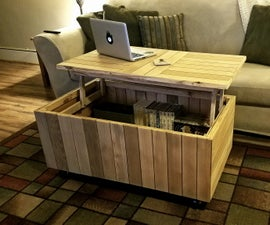 Reclaimed Lift-Top Coffee Table