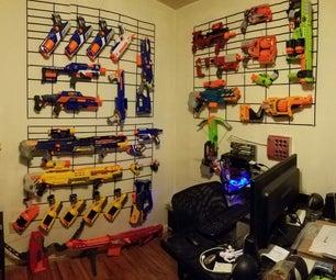 Nerf Gun/Airsoft Wall Display