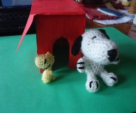 Snoopy/Woodstock/Doghouse Set! (Advanced Crochet Patterns)