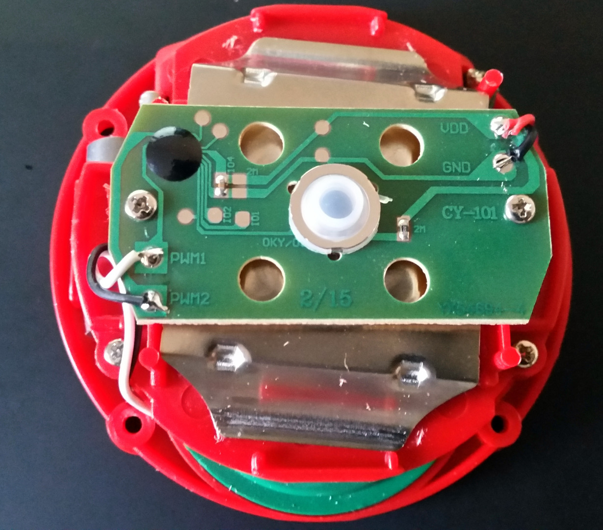 Picture of Disassembly of the Button and Observation of the Internal Circuitry