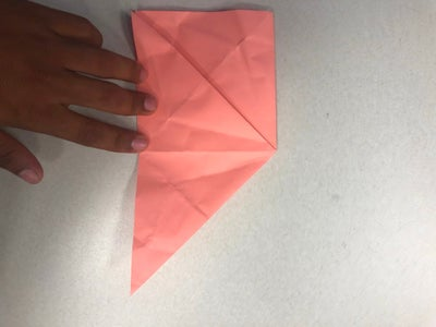 Open Flap Into Triangle