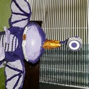 One Eyed, One Horned, Flying Purple People-Eater, in Paper Mache' !! (Violet)