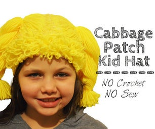 Cabbage Patch Kid Hat (NO Crocheting or Sewing!)