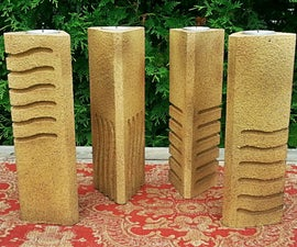 The Fifth Element Stones Pillar Candle Holders