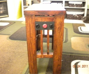 Convert a Side Table Into a Remote Control