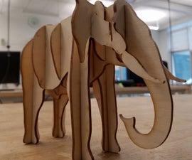Laser Cut Elephant