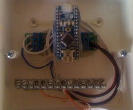 Arduino nano controling a dental vacuum motor by checking liquid waste level