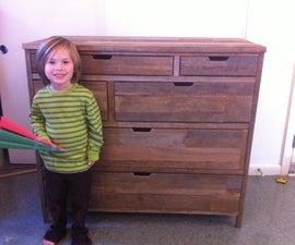 Reclaimed 6 drawer Dresser (TECHSHOP BUILT)!!