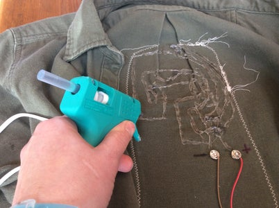 Iron & Sew Down the Patch & Insulate the Circuit