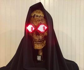 Halloween Talking Skull With Animated Eyes