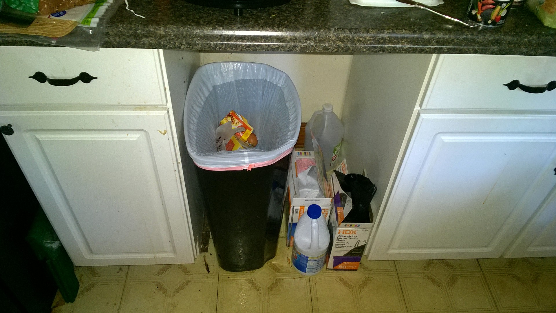 Picture of Kitchen Trash & Recycle Cart