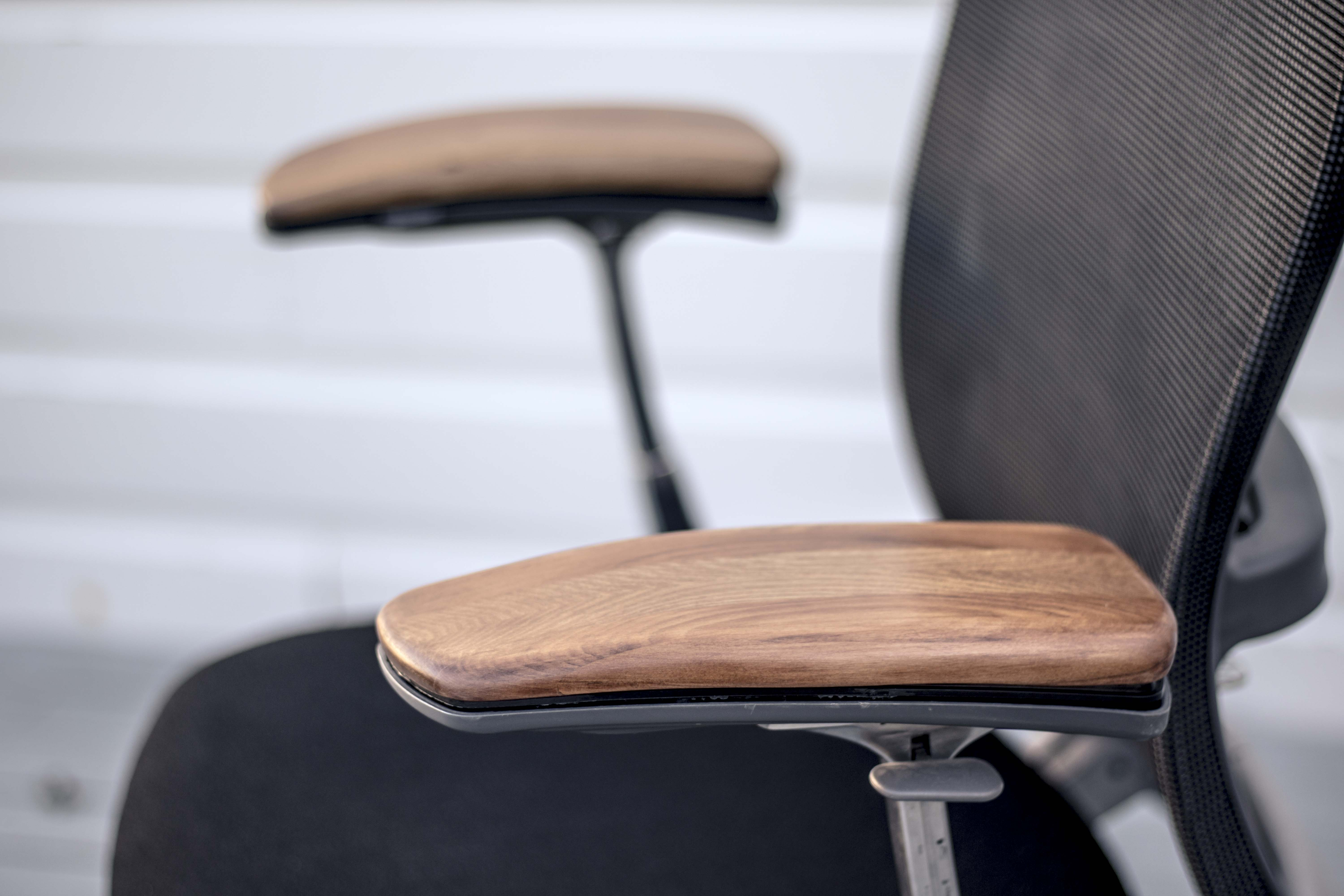 Picture of Replace Worn Arm Rests on a Secondhand Chair (Knoll Formway Life Chair) // Furniture Upcycle