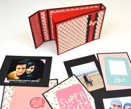 DIY Crafts - Scrapbooking Tutorial - How to Make a Mini Album ( Accordion )