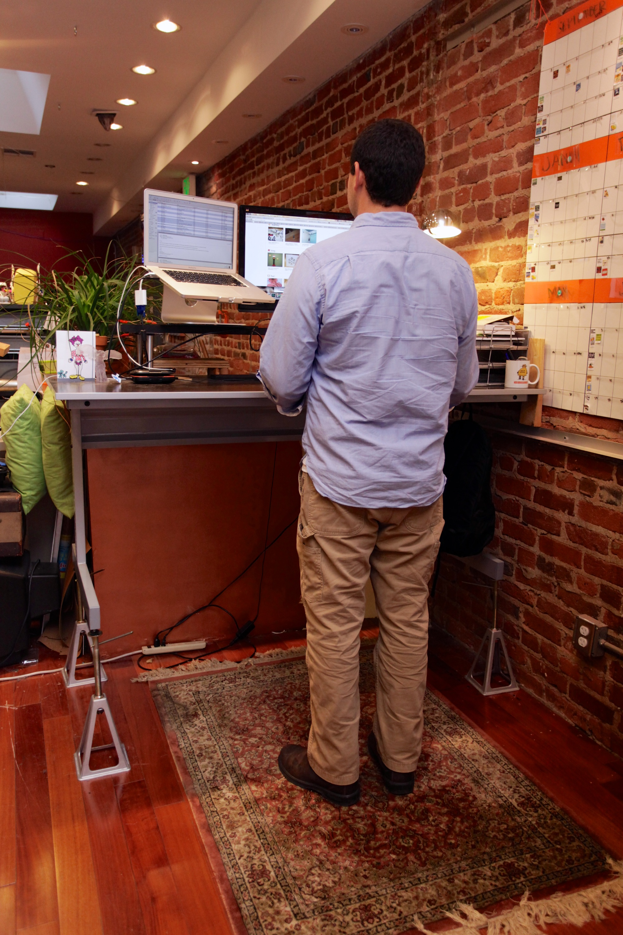 Picture of $38 Adjustable Standing Desk Conversion