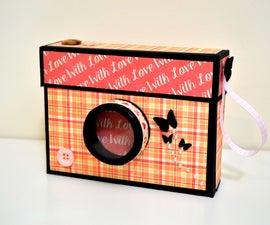 How to Make Camera Box - Mini Photo Album - DIY Paper Crafts - Valentine's Day Gift Ideas