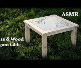 Elegant Glass&wood Table From Roof Leftovers