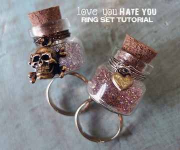 Love You / Hate You Ring Set