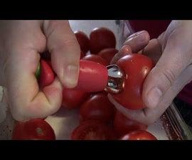 Easily De-stem a Tomato Lifehack