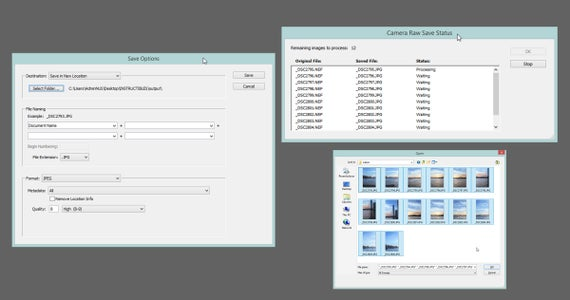 Saving to JPEG for Photomerge