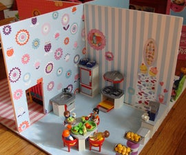 Dollhouse for small play set figures