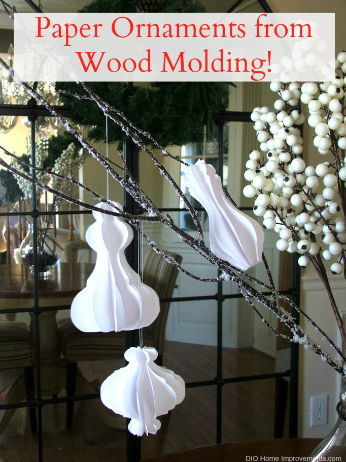 Picture of Architectural Inspired Molding Paper Ornaments