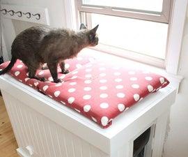 Make a cat litter box that doubles as a bench