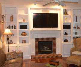 How to Build a Fireplace Bookcase