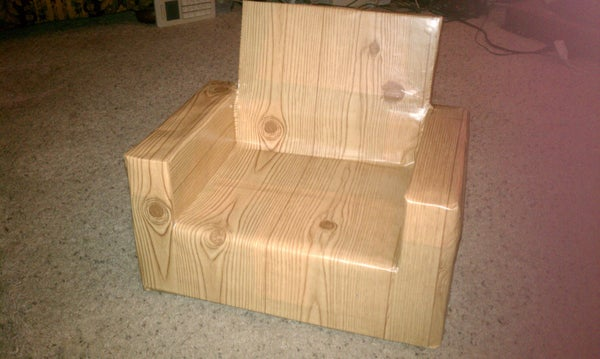 Toddler Chair From Fountain Soda Syrup Box