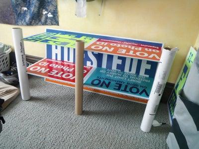 Lawn Sign (corrugated Plastic) Shelf